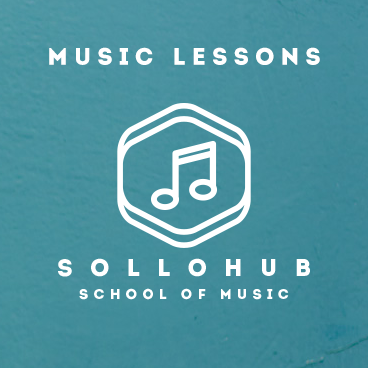 Music lessons with logo
